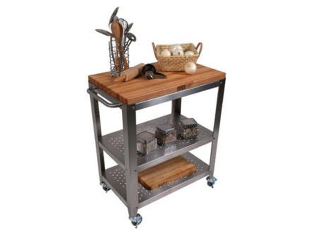 Kitchen Carts and Islands Kitchen Cart with Removable Cutting Board Top by  John Boos at Dinette Depot