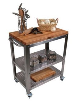 John Boos Kitchen Carts And Islands Cart With Removable Cutting Board Top