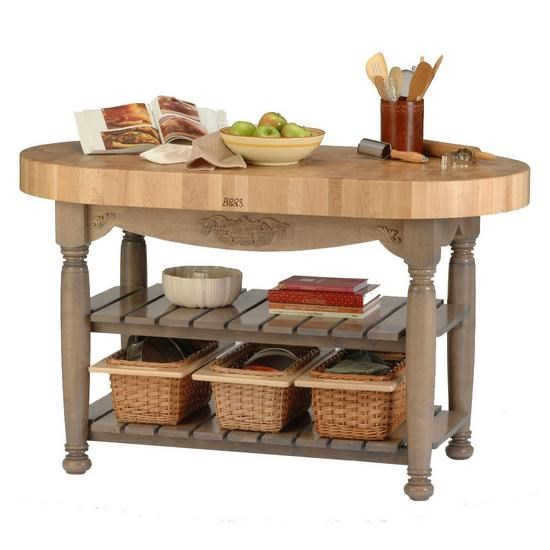 John Boos Kitchen Carts And Islands Butcher Block Wood Top Country Style Kitchen  Island