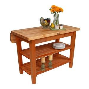 Attrayant John Boos Kitchen Carts And Islands Kitchen Island With Butcher Block Top  And Drop Leaf