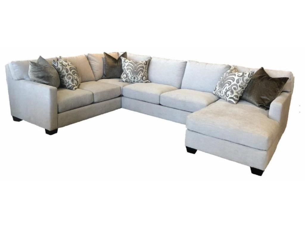 Jmd Furniture 1300 3 Pc Down Sectional Raf Chaise Reeds Furniture