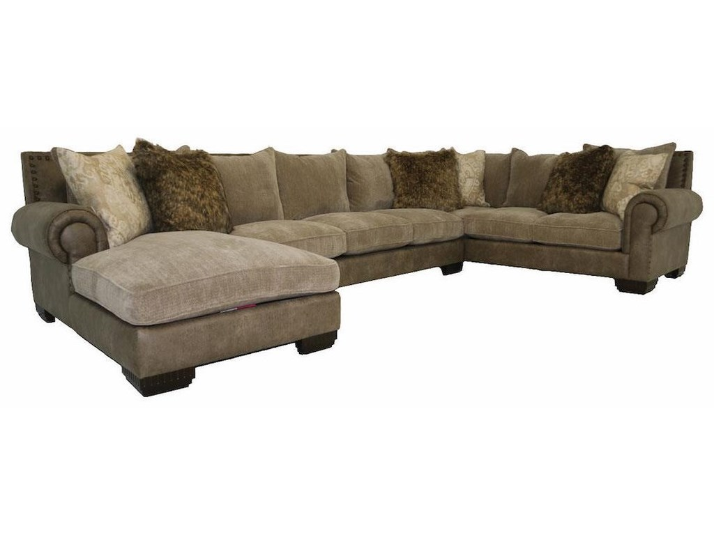 JMD Furniture 3000 JMDDown 3 PC Chaise Sectional