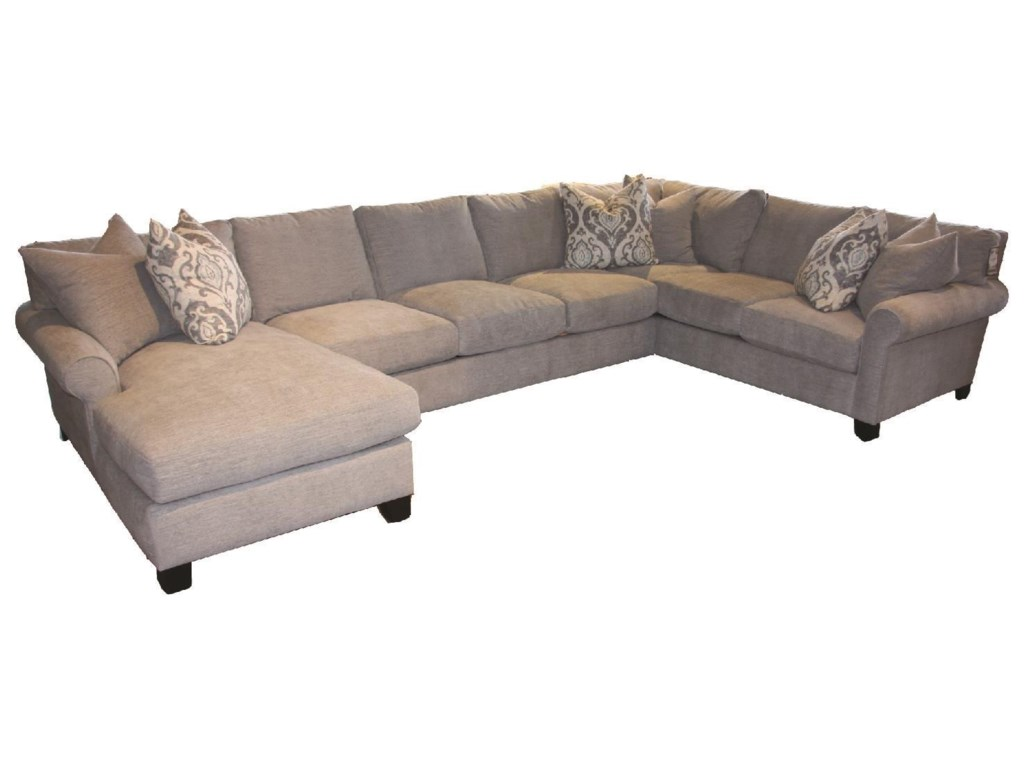 JMD Furniture 6200Down 3 PC Chaise Sectional