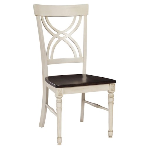 John Thomas Camden Lacy Dining Side Chair with Two-Toned Finish