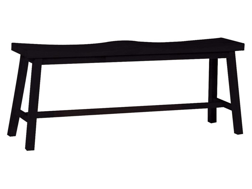 John Thomas Dining Essentials2-Seat Saddle Dining Bench