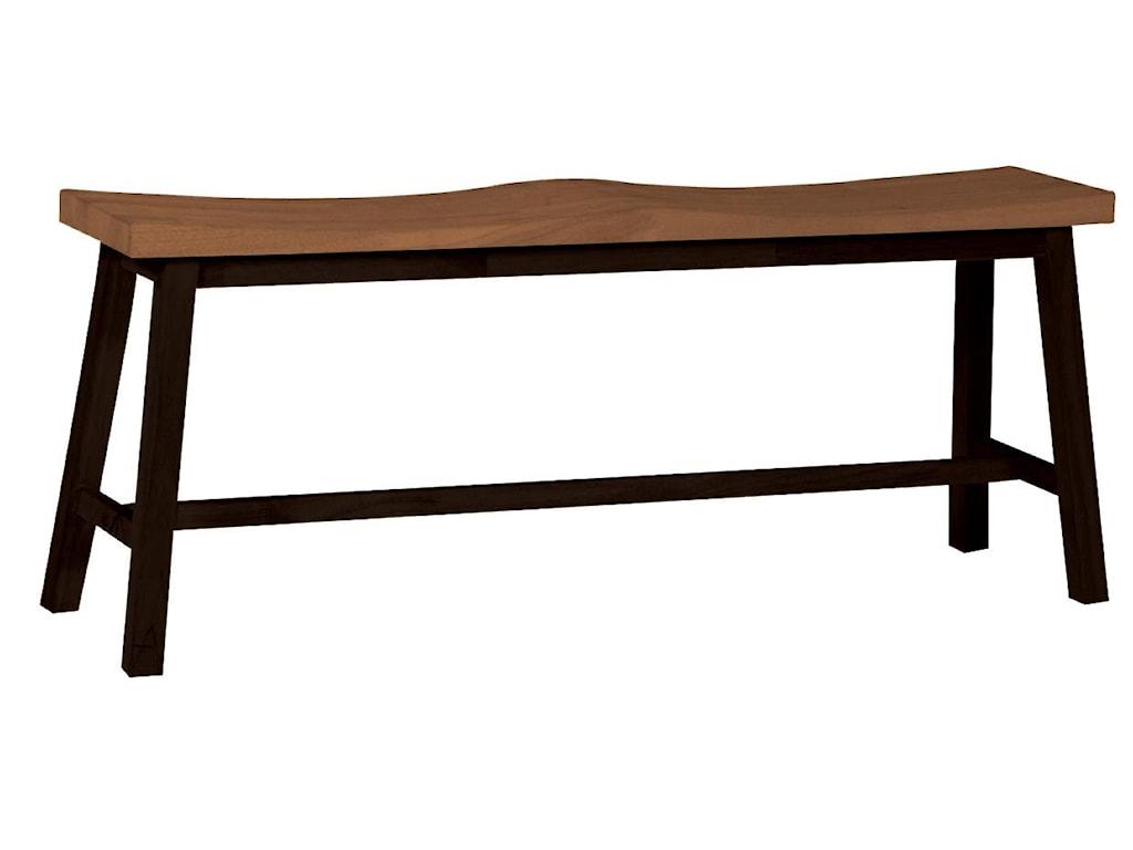 John Thomas Dining Essentials2-Seat Saddle Dining Bench