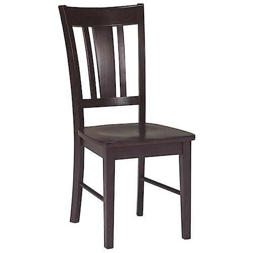 John Thomas Dining Essentials Splat Back Side Chair