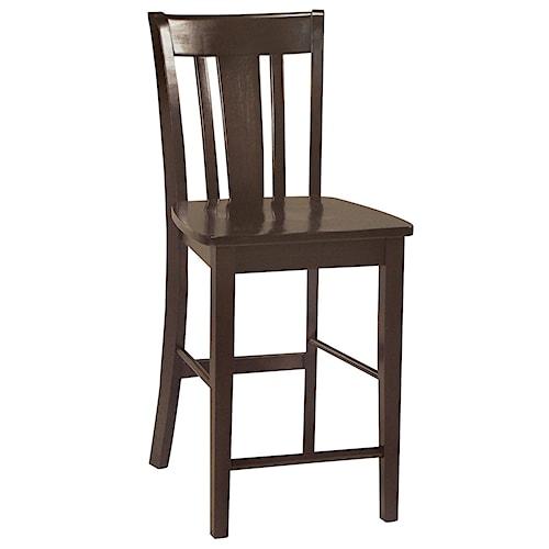 John Thomas Dining Essentials Splat Back Bar Chair