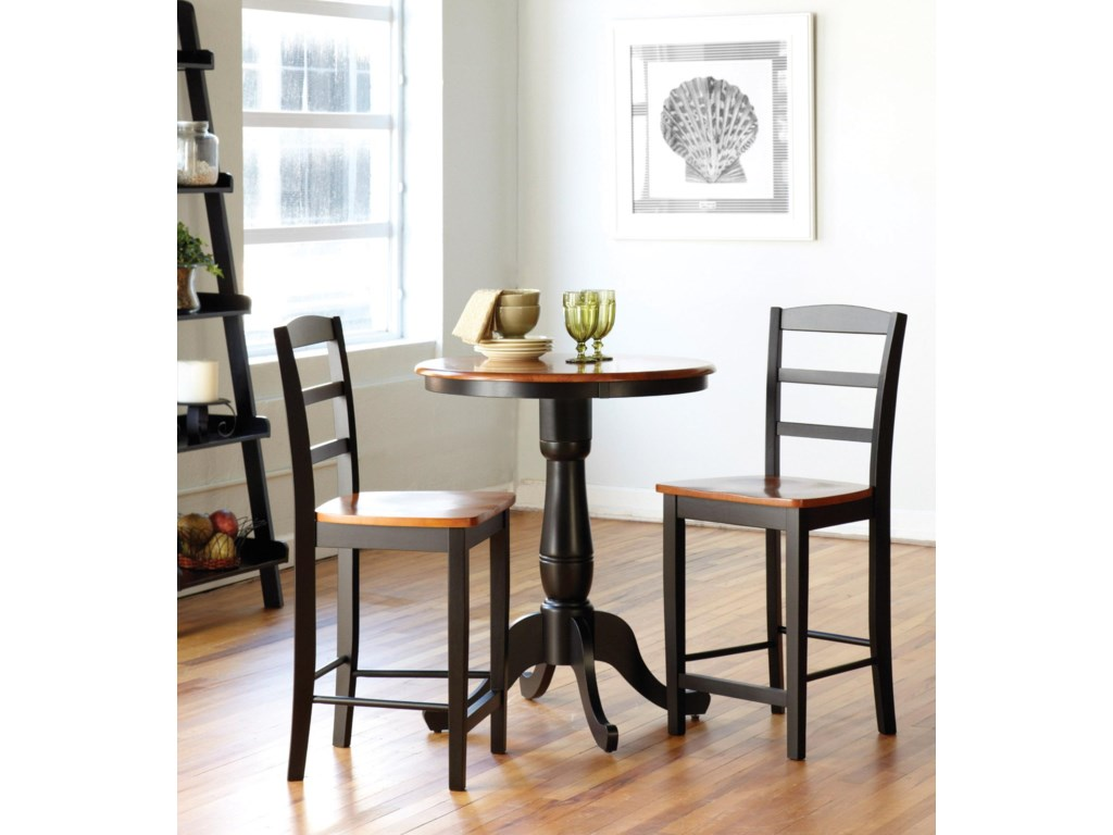 Shown with Pedestal Pub Table