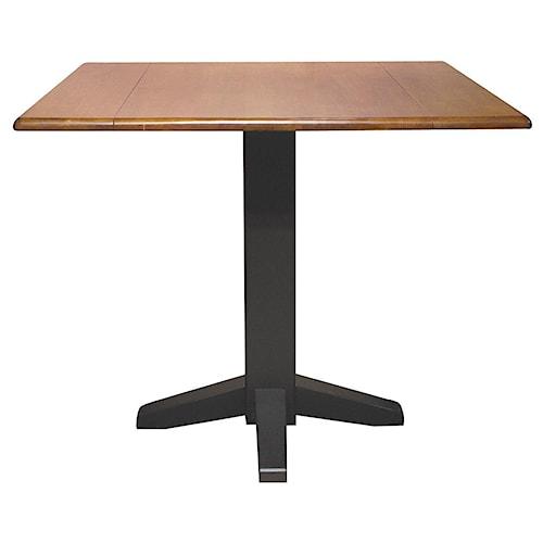 John Thomas Dining Essentials Square Drop Leaf Pedestal Table