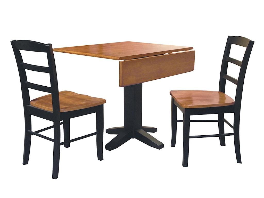 John Thomas Dining EssentialsSquare Drop Leaf Pedestal Table
