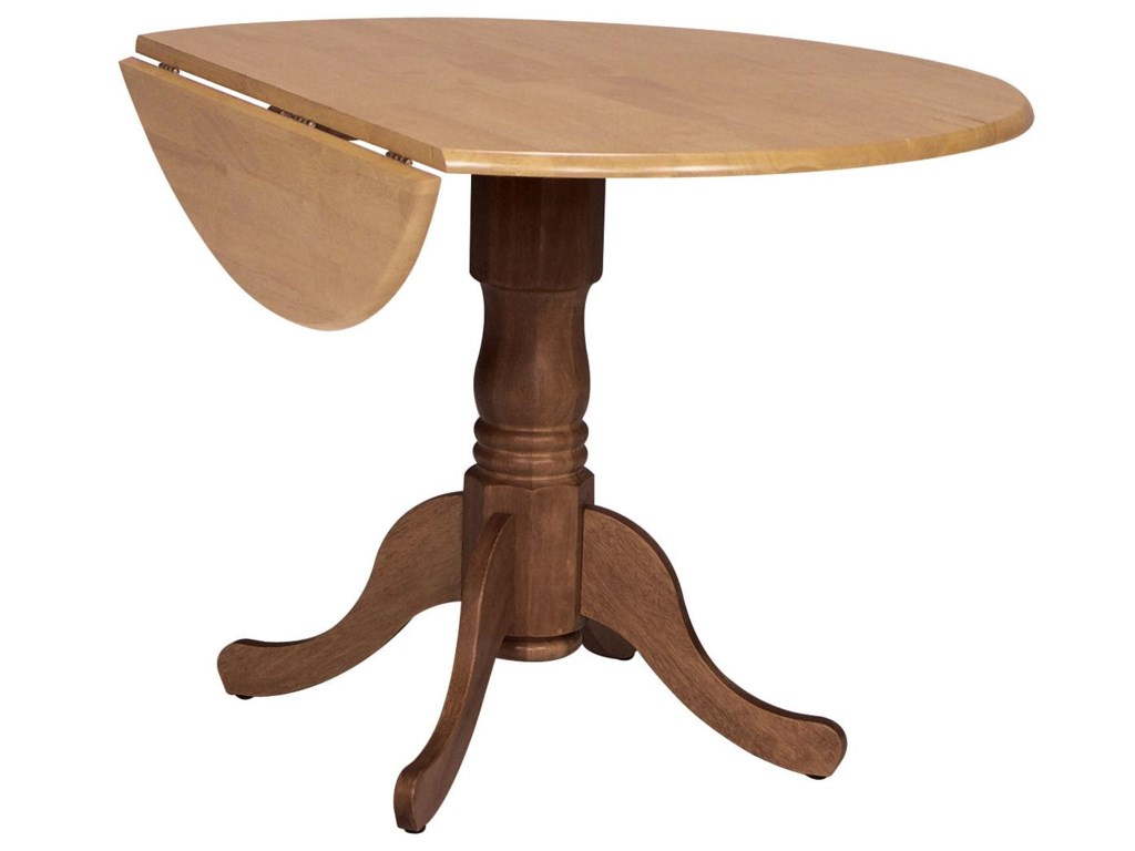 John Thomas Dining Essentials 42 Round Drop Leaf Pedestal Table Furniture Barn Kitchen Tables
