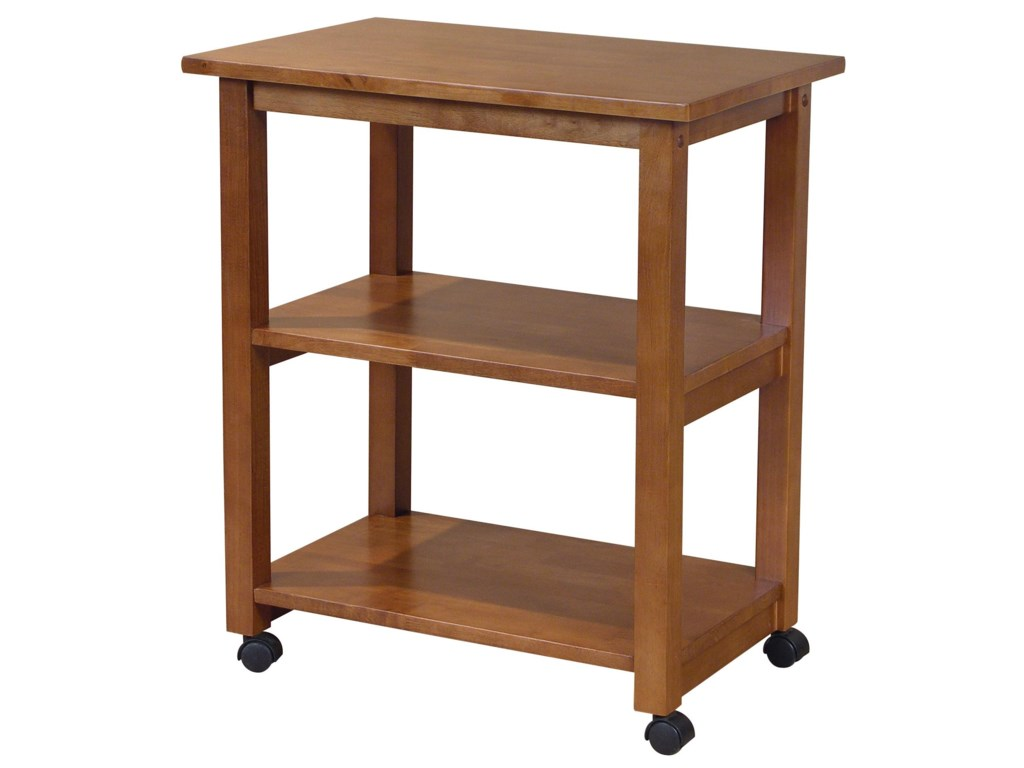 John Thomas Dining Essentials2-Shelf Kitchen Cart