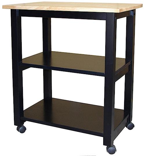 John Thomas Dining Essentials 2-Shelf Kitchen Cart