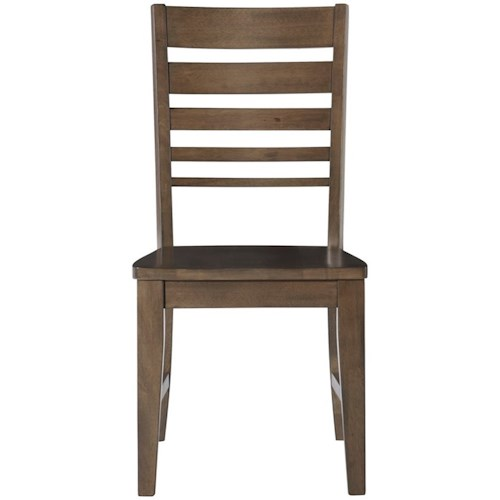 John Thomas Luxe Contemporary Dining Side Chair with Ladderback