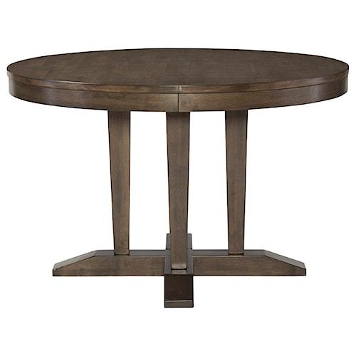 John Thomas Luxe Contemporary Round Pedestal Table