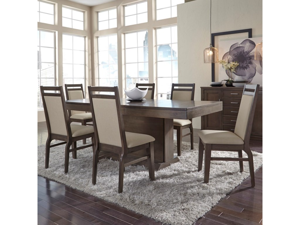John Thomas Luxe Contemporary Table and Chair Set with Upholstered ...