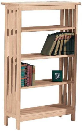 John Thomas SELECT Home Accents 4-Shelf Mission Bookcase