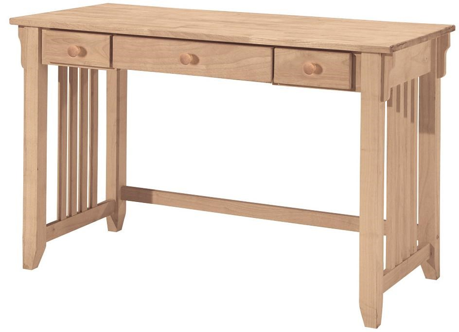 Home Copenhagen 2 Drawer Desk Two Tone