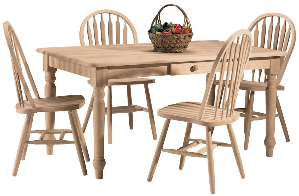 Shown in 5-Piece Dining Table Set