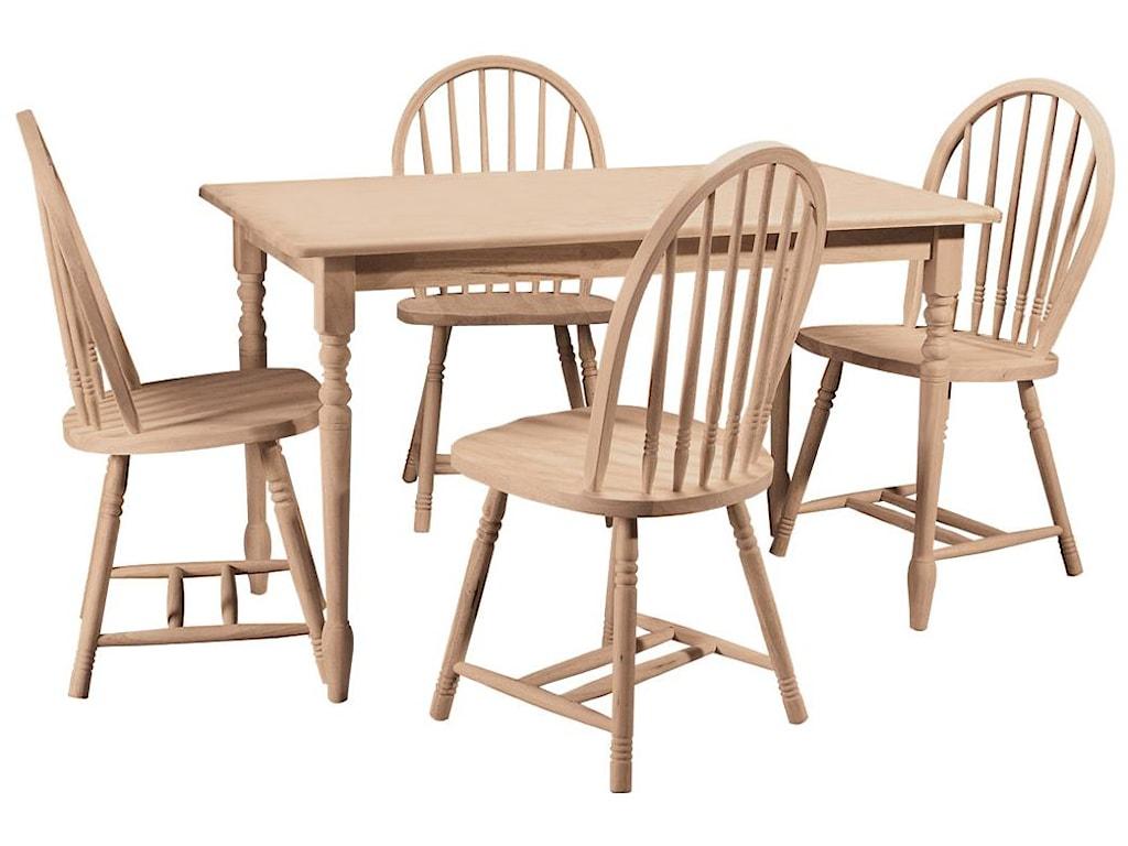 Shown in 5-Piece Farmhouse Table Set