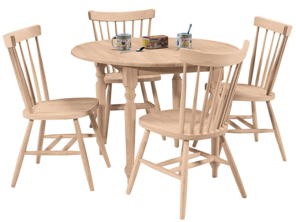 Shown in 5-Piece Round Dining Table Set