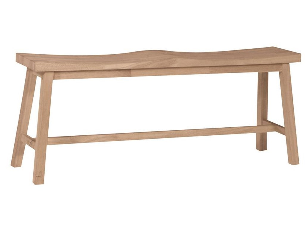 John Thomas SELECT DiningSaddle Seat Bench