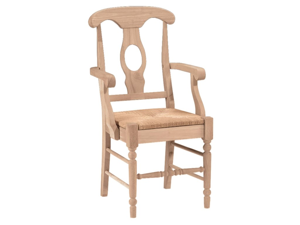 John Thomas SELECT DiningEmpire Arm Chair with Rush Seat