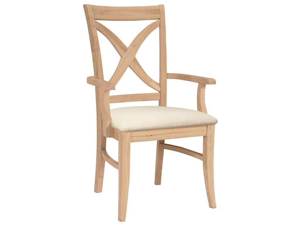 John Thomas SELECT DiningVineyard Arm Chair with Seat Cushion