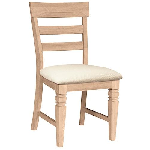 John Thomas SELECT Dining Java Chair with Seat Cushion