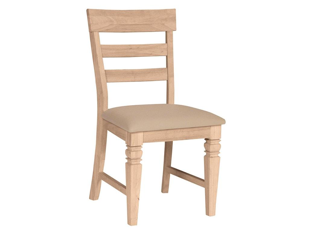 John Thomas SELECT DiningJava Chair with Vinyl Seat Cushion