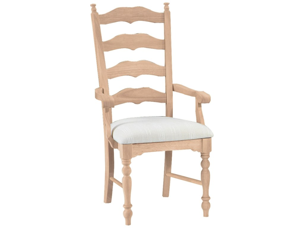 John Thomas SELECT DiningMaine Ladderback Arm Chair