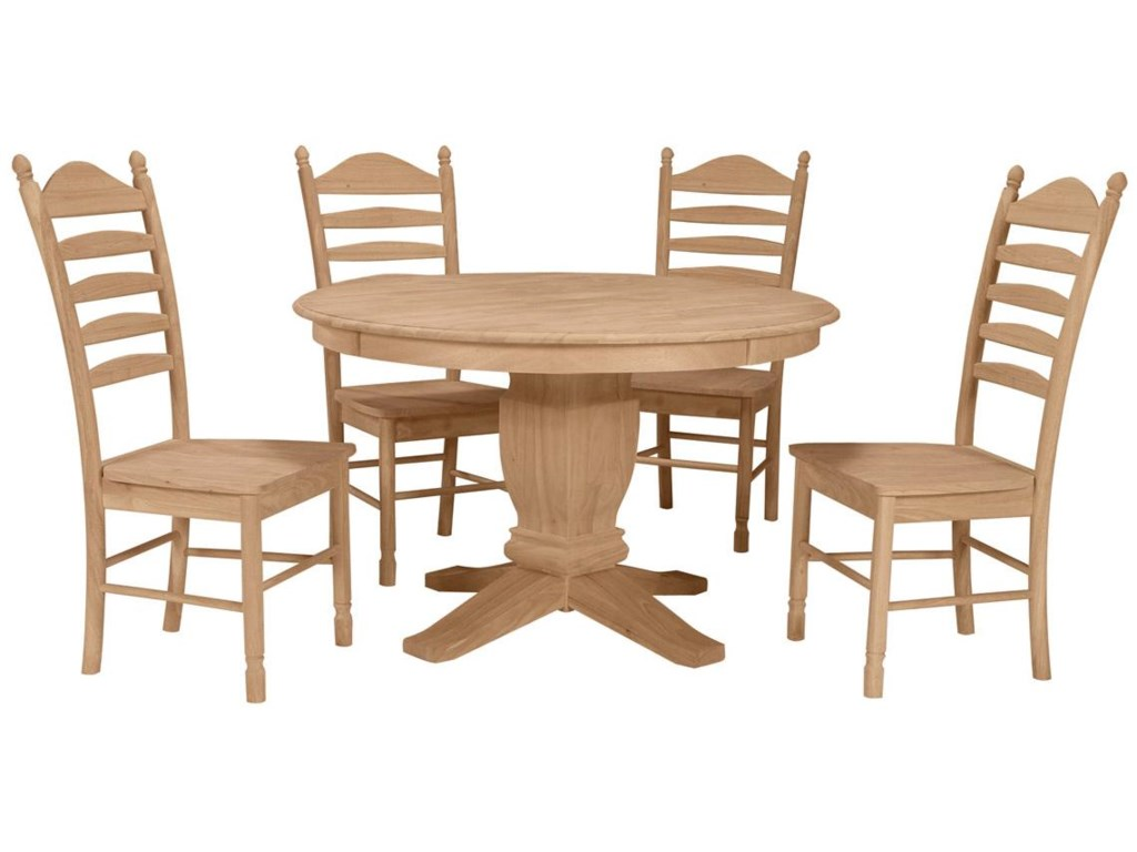 Shown in 5-piece Round Table Dining Set