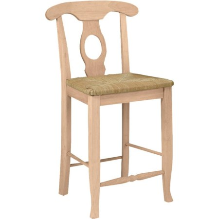 """24"""" Empire Stool with Rush Seat"""