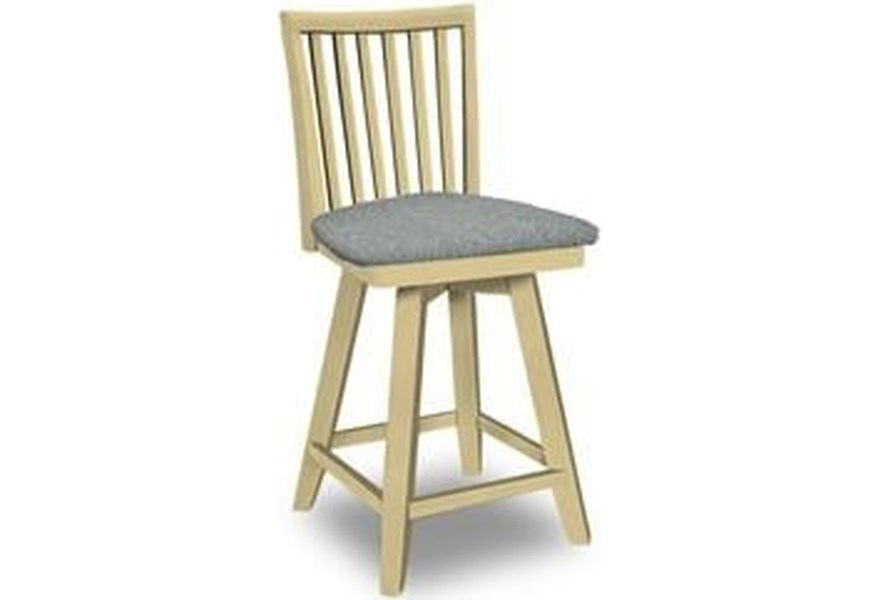 John Thomas Select Dining 263428483 Swivel Bar Stool Baer S Furniture Bar Stools