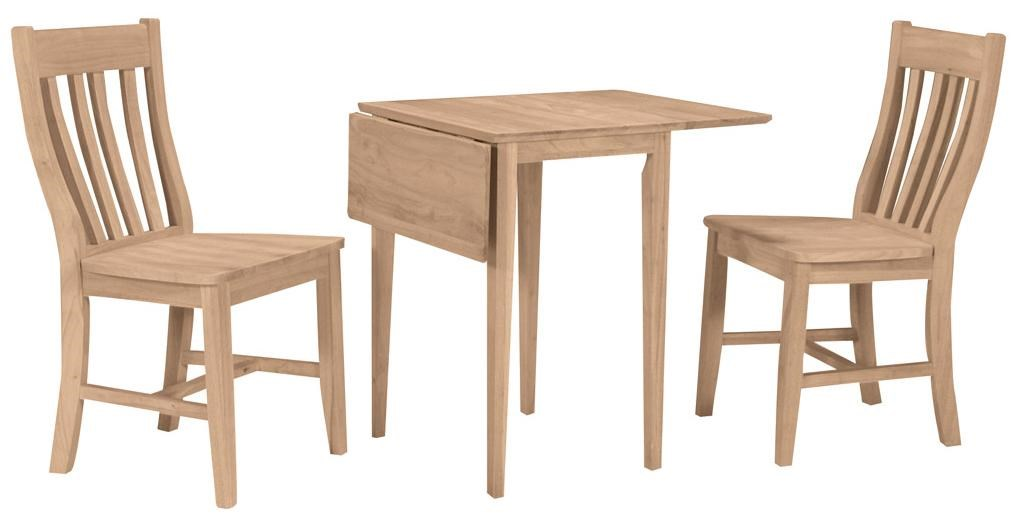 Shown with 2 Cafe Chairs