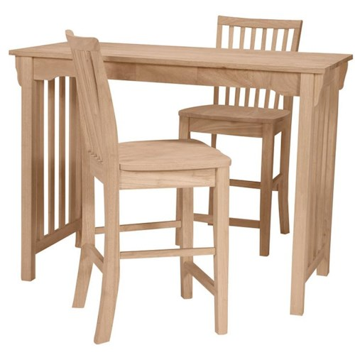 John Thomas SELECT Dining Mission Gathering Height Table