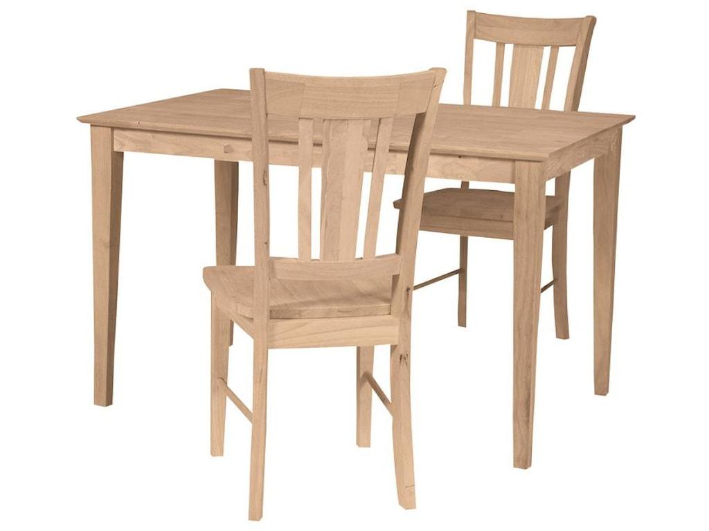 John Thomas SELECT DiningSolid Top Rectangular Shaker Table