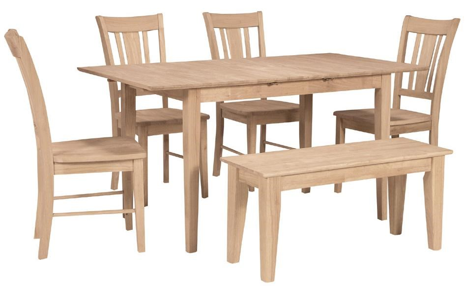 Shown with 4 Dining Side chairs & Dining Bench