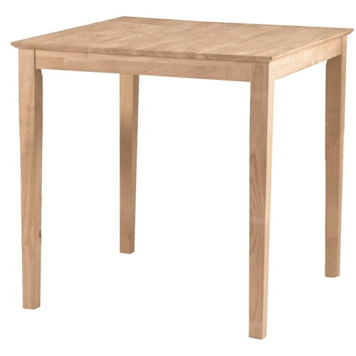 John Thomas SELECT Dining Square Gathering Height Shaker Table