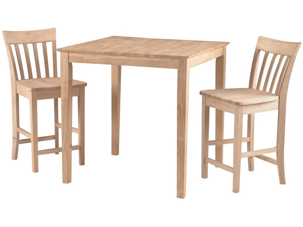 John Thomas SELECT DiningSquare Gathering Height Shaker Table