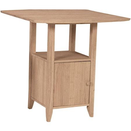 Dropleaf Pub Table With Storage