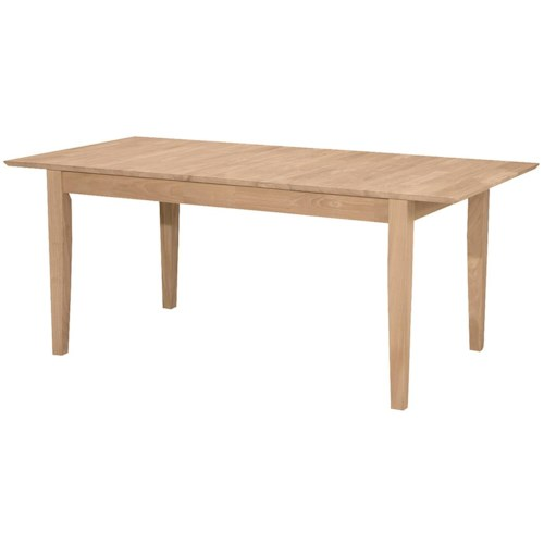 John Thomas SELECT Dining Butterfly Leaf Extension Table with Shaker Leg