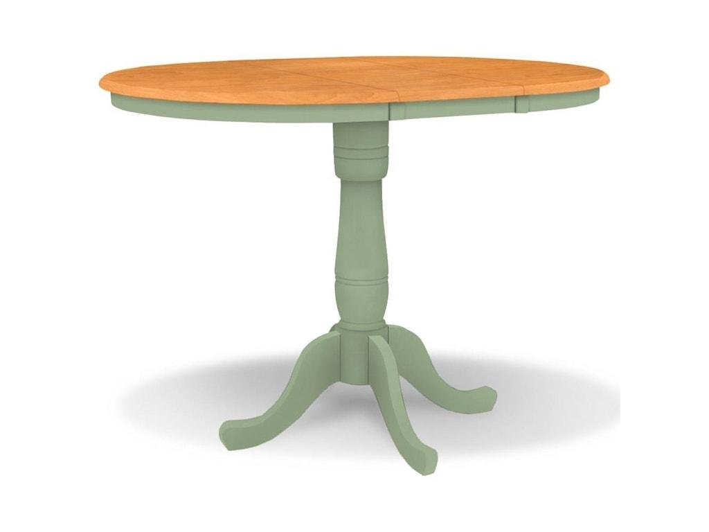 John Thomas SELECT DiningAdjustable Height Round Pedestal Table
