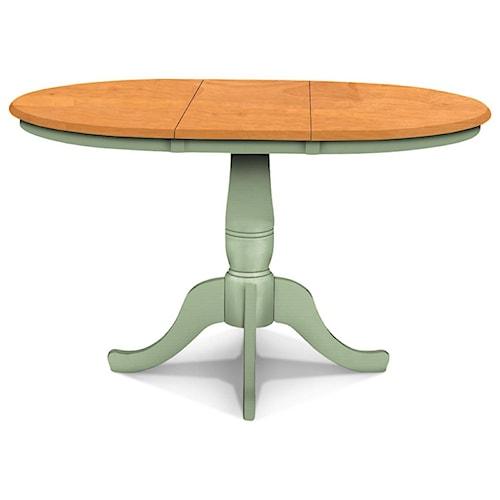 John Thomas SELECT Dining Adjustable Height Round Pedestal Table