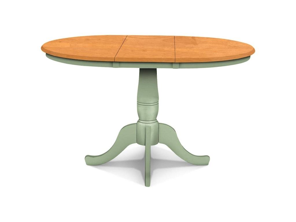Adjustable Height Round Table.John Thomas Select Dining Adjustable Height Round Pedestal Table