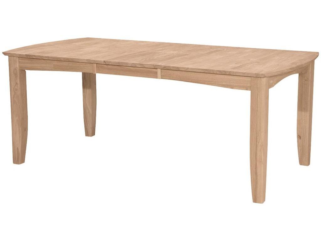 John Thomas SELECT DiningBow End Shaker Leg Table