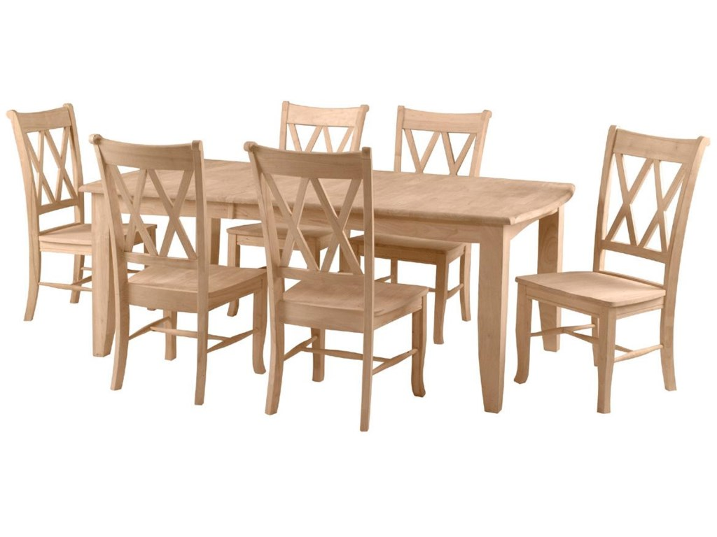 Shown with 6 Double X-Back Chairs