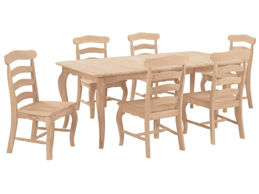 Shown with 6 Country French Chairs