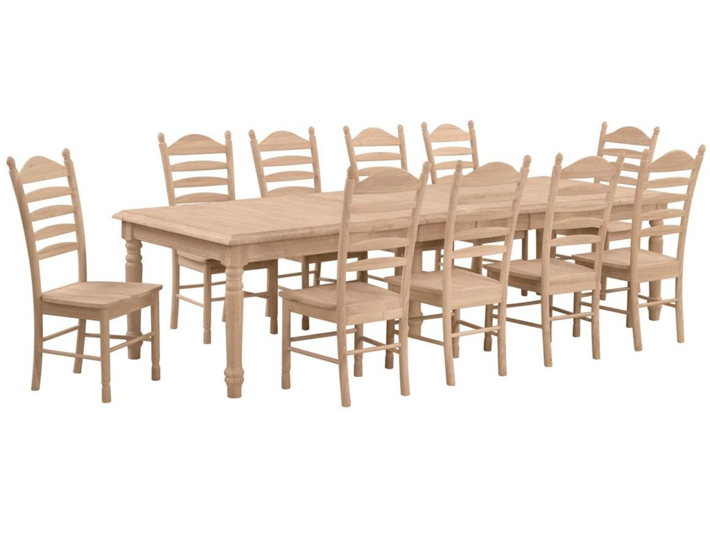 Shown with 10 Bedford Ladderback Chairs